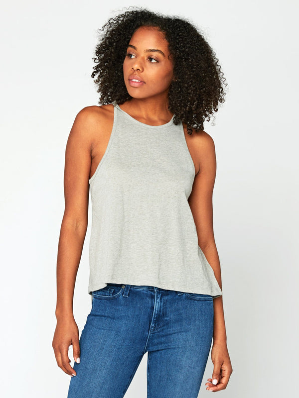 Holten Melange Tank Womens Tops Tank Threads 4 Thought XS Sage