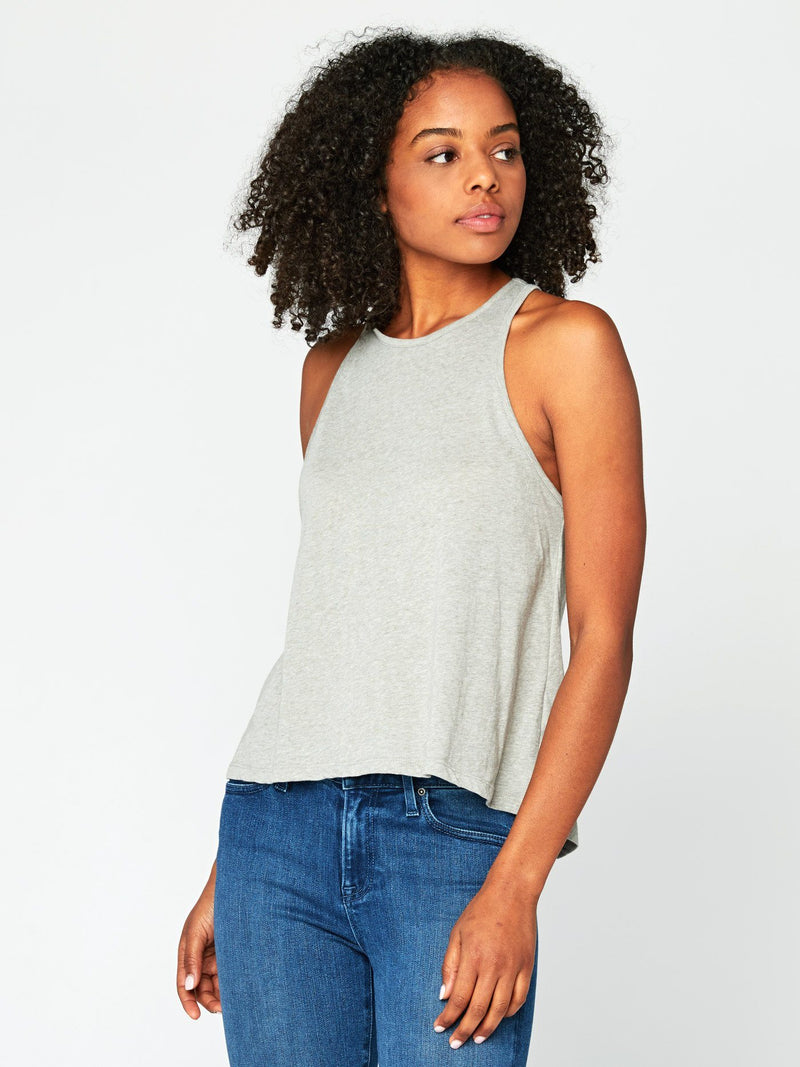 Holten Melange Tank Womens Tops Tank Threads 4 Thought