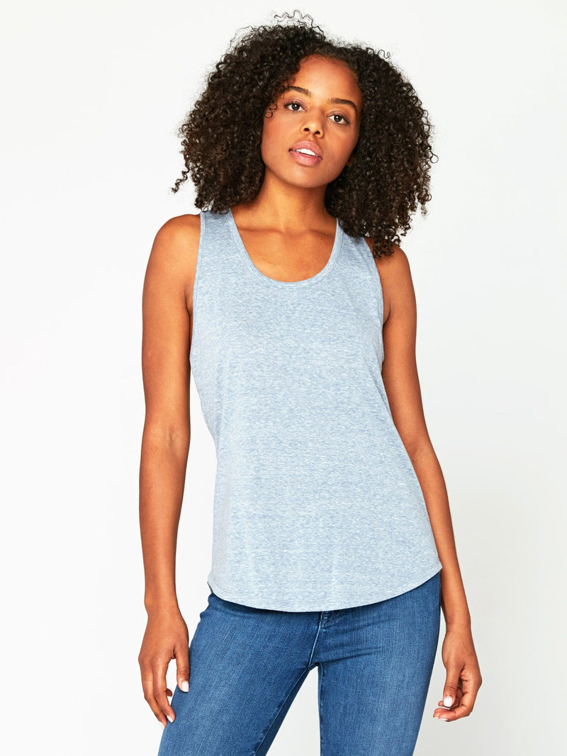 Abbie Triblend Tank Womens Tops Threads 4 Thought XS China Blue