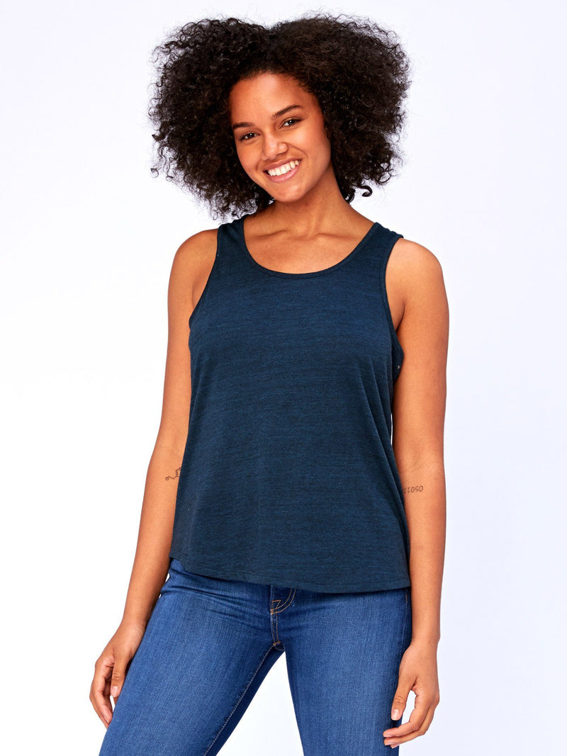 Abbie Triblend Tank Womens Tops Threads 4 Thought XS Midnight