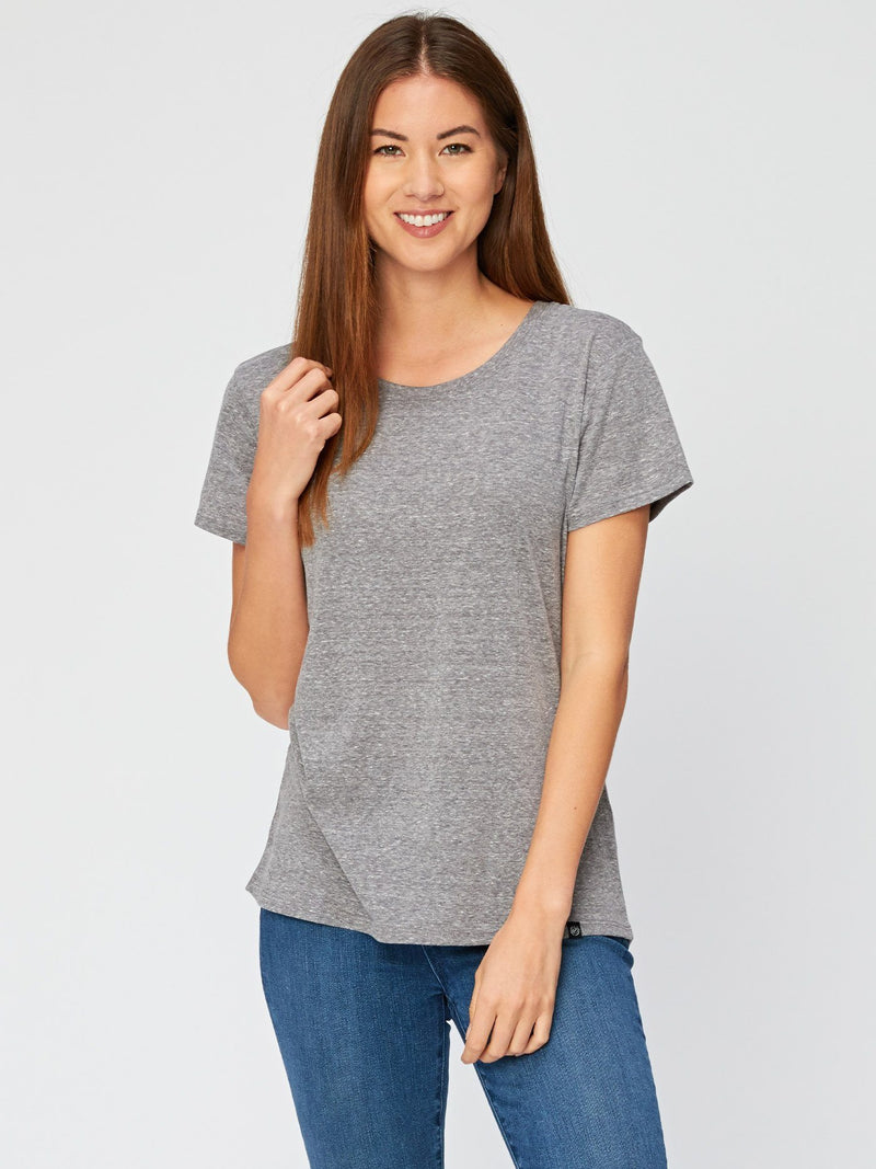 Lily Triblend Tee Womens Tops Threads 4 Thought XS Heather Grey