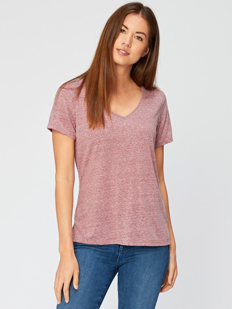 Molly Triblend Tee Womens Tops Threads 4 Thought XS Brick Red