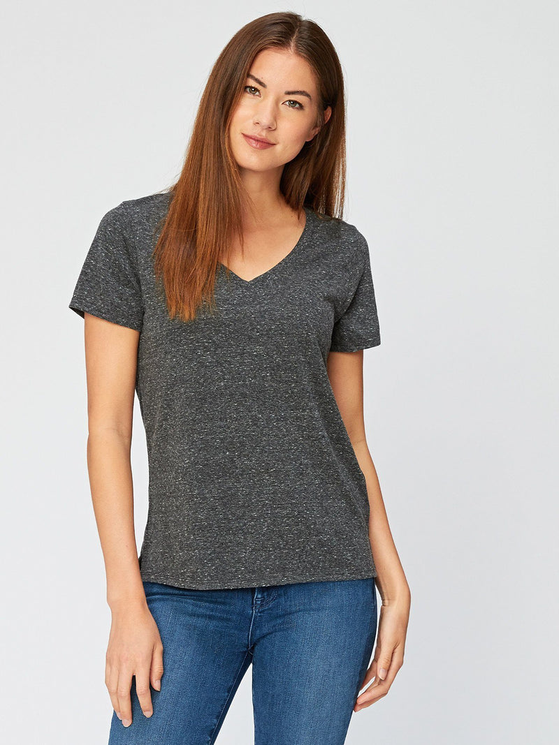Molly Triblend Tee Womens Tops Threads 4 Thought XS Heather Black