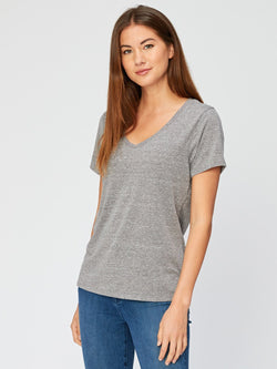 Molly Triblend Tee Womens Tops Threads 4 Thought XS Heather Grey