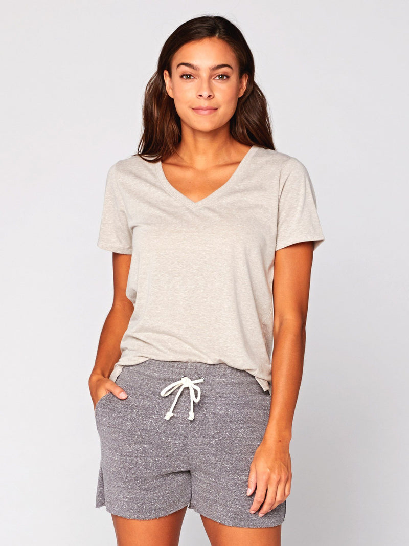 Molly Triblend Tee Womens Tops Threads 4 Thought XS Stucco