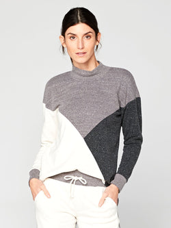 Zadie Colorblock Pullover Womens Outerwear Sweatshirt Threads 4 Thought XS Birch