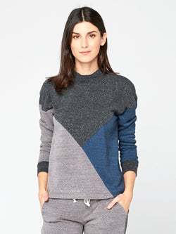 Zadie Colorblock Pullover Womens Outerwear Sweatshirt Threads 4 Thought XS Midnight