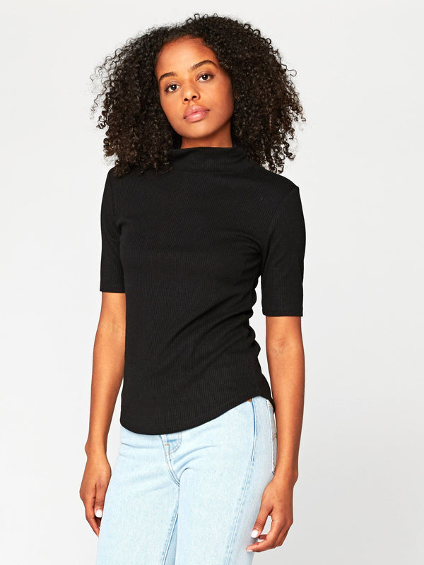 Aletta Mock Neck Top