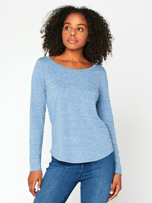 Jala Long Sleeve Tee Womens Tops Top Threads 4 Thought XS Indigo