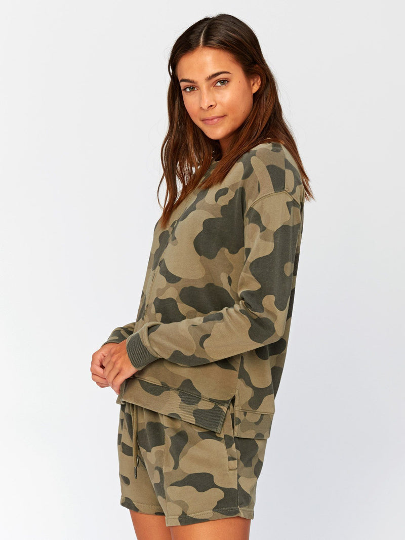 Effie Camo Printed Pullover Womens Outerwear Sweatshirt Threads 4 Thought