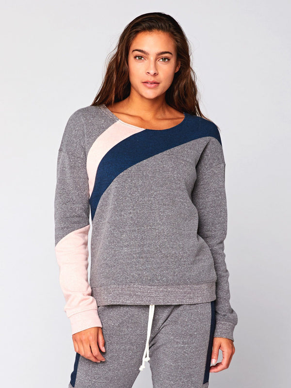 Nysha Colorblock Pullover Womens Outerwear Sweater Threads 4 Thought XS Heather Grey