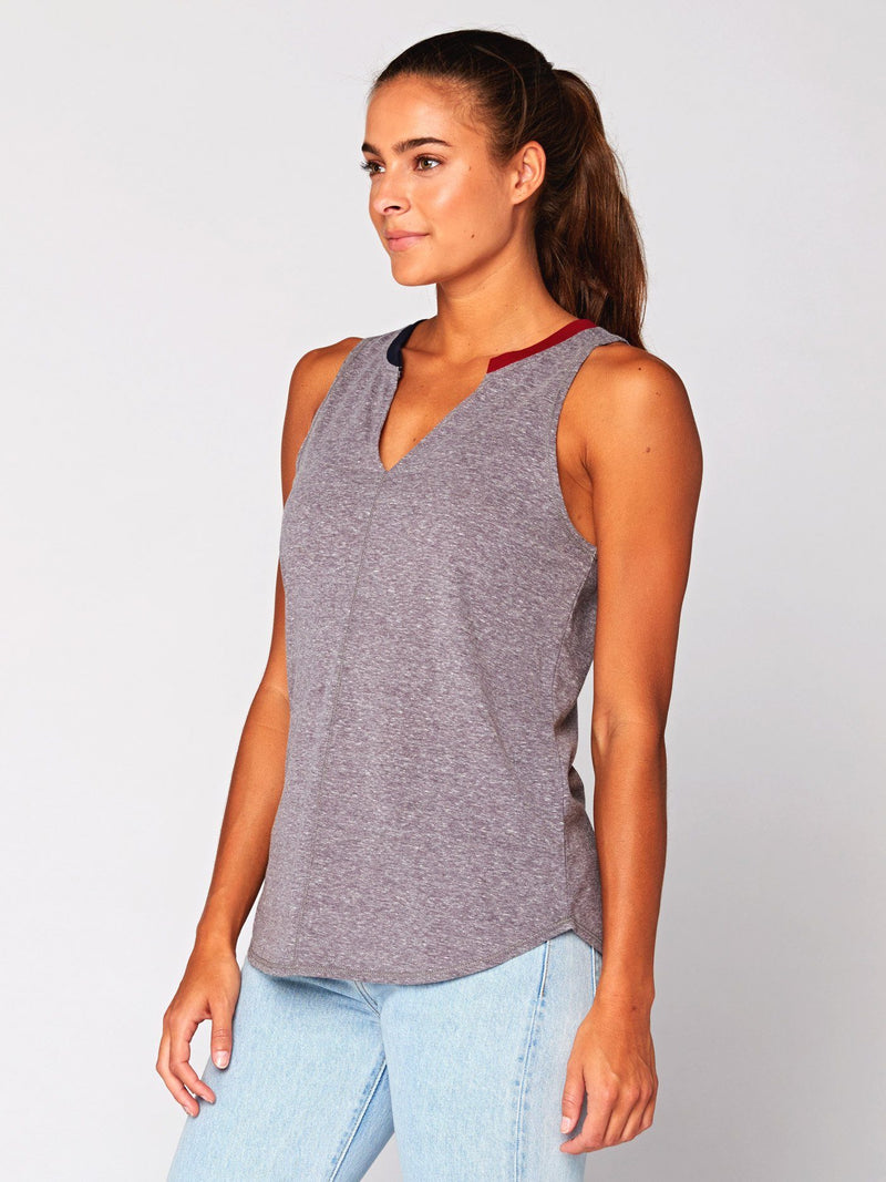 Pia V-Neck Tank Womens Tops Threads 4 Thought