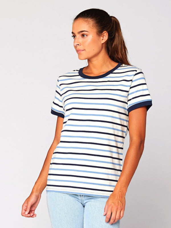 Zaylee Stripe Ringer Tee Womens Tops Threads 4 Thought
