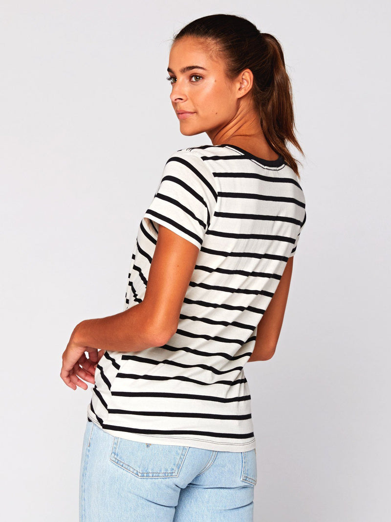 Aisha Stripe Jersey Top Womens Tops Threads 4 Thought