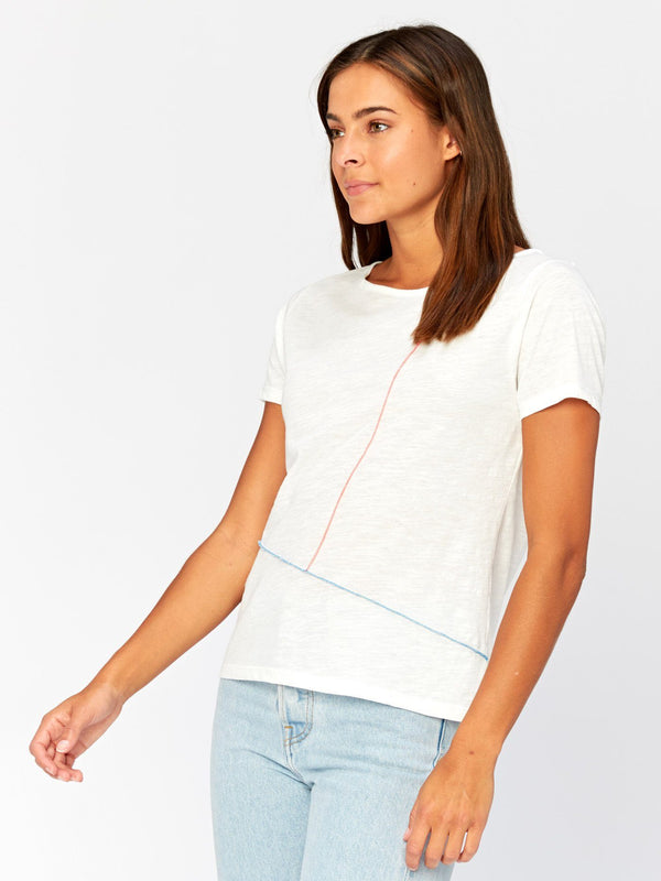 Kristin Contrast Stitch Top Womens Tops Threads 4 Thought