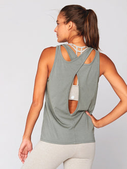 Cindy Cross-Back Tank Womens Tops Threads 4 Thought