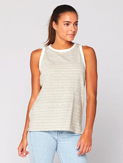 Anika Stripe Tank Womens Tops Threads 4 Thought XS Artichoke / Ecru