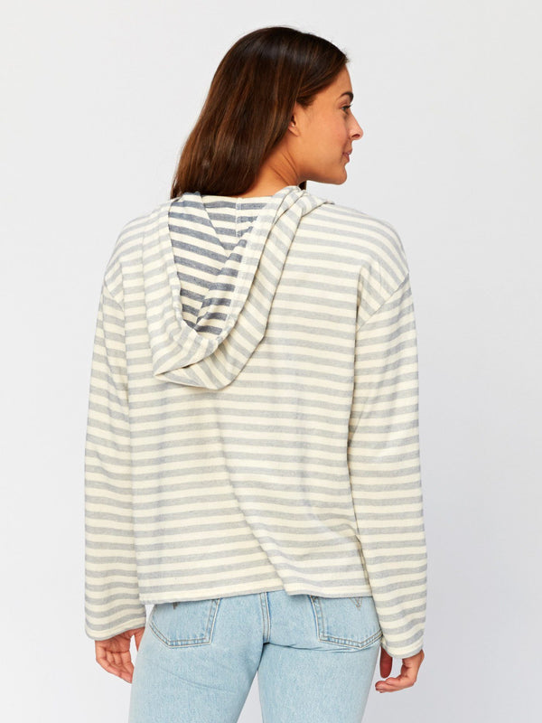 Kamala Stripe Hoodie Womens Outerwear Hoodie Threads 4 Thought