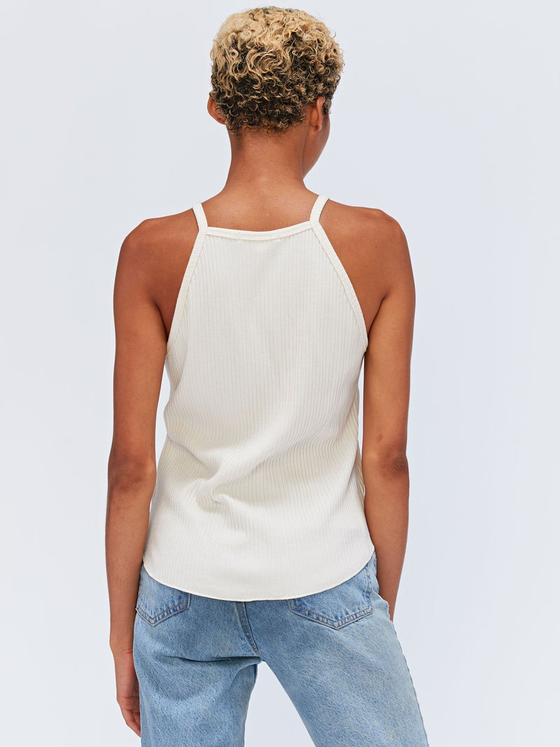 Elpis Scoop Hem Halter Tank Womens Tops Threads 4 Thought