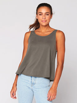 Sissie Sandwash Babydoll Top Womens Tops Threads 4 Thought XS Artichoke