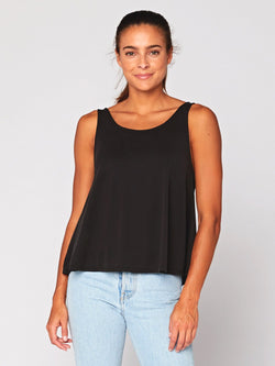 Sissie Sandwash Babydoll Top Womens Tops Threads 4 Thought XS Black
