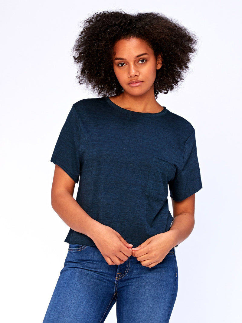 Maggie Triblend Tee Womens Tops Threads 4 Thought XS Midnight