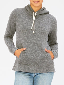 Triblend Fleece Pullover Hoodie Womens Outerwear Sweatshirt Threads 4 Thought