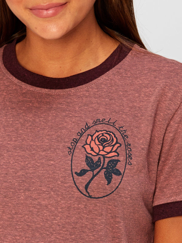 Smell the Roses Graphic Tee Womens Tops Threads 4 Thought