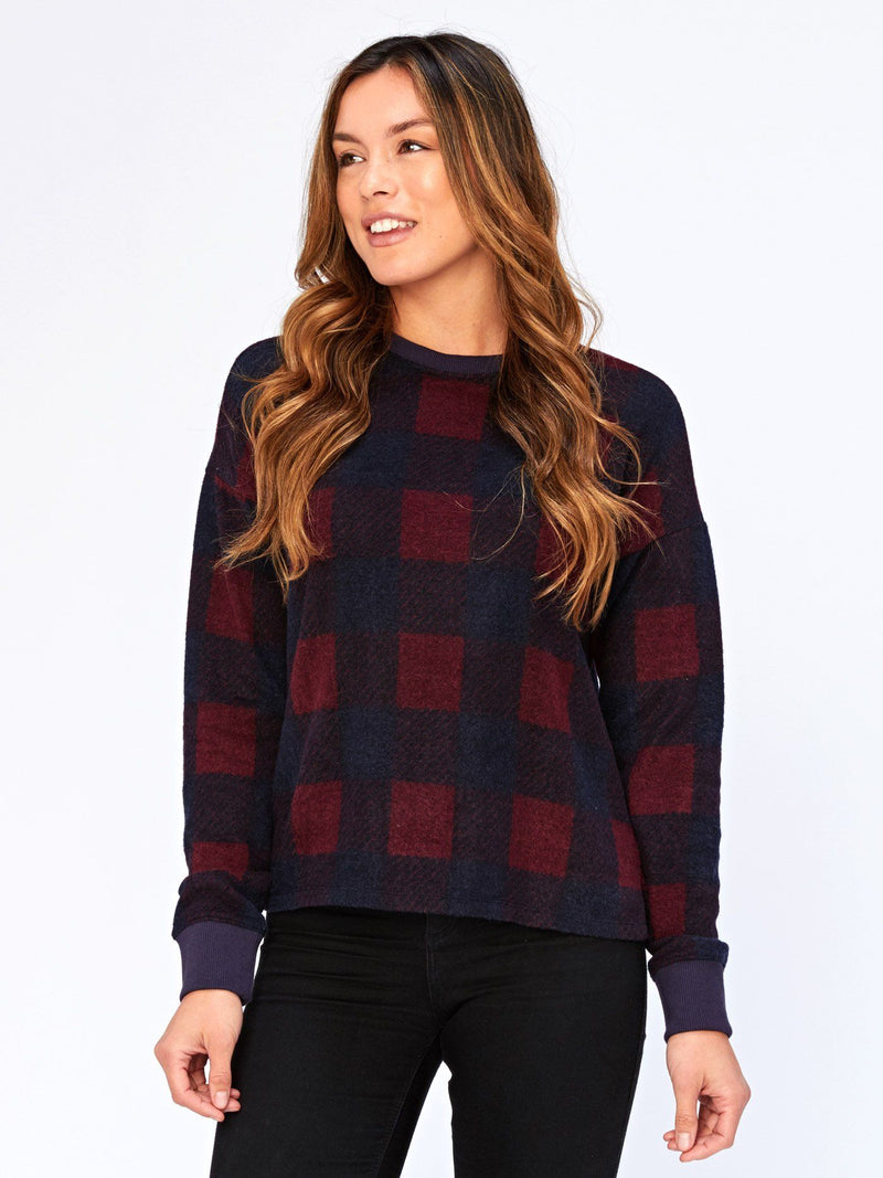 Journey Innsbruck Plaid Print Pullover Womens Outerwear Sweater Threads 4 Thought