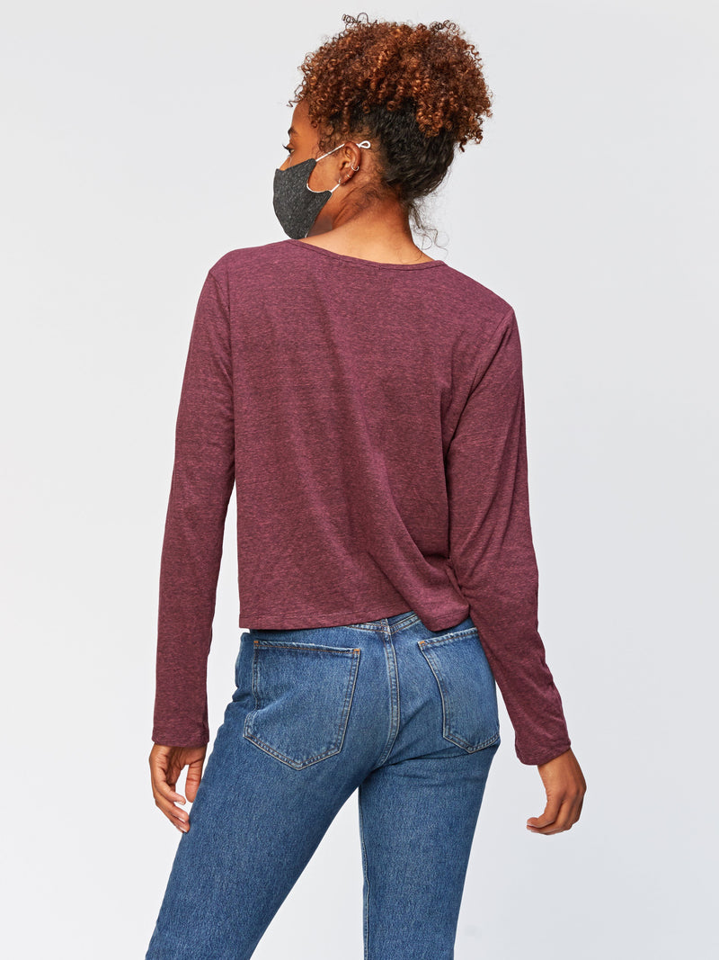 Crop Long Sleeve Triblend Tee Womens Tops Threads 4 Thought