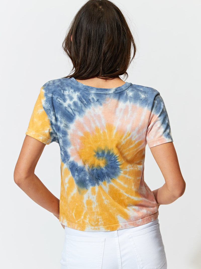 Maggie Tricolor Tie Dye Tee Womens Tops Tee Threads 4 Thought
