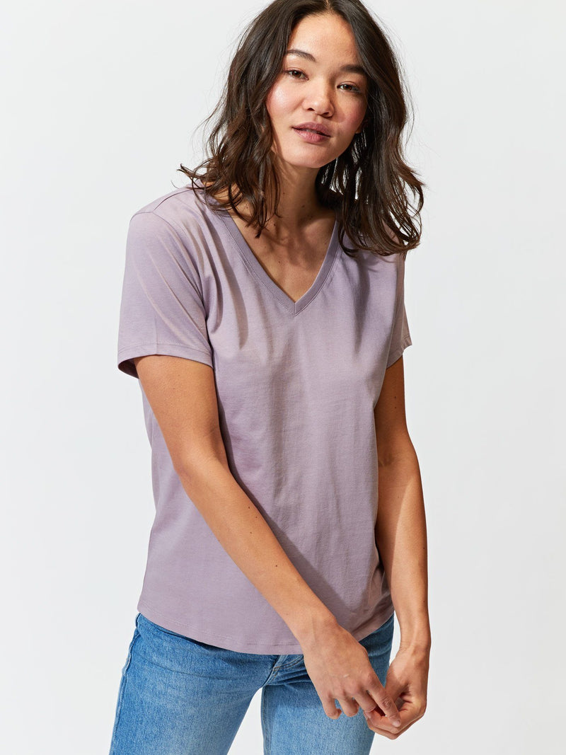 Women's Invincible V-Neck Tee Womens Tops Tee Threads 4 Thought