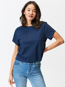 Invincible Cropped Crew Tee Womens Tops Tee Threads 4 Thought
