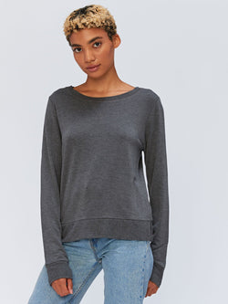 Erin Pullover Womens Outerwear Sweatshirt Threads 4 Thought XS Heather Charcoal
