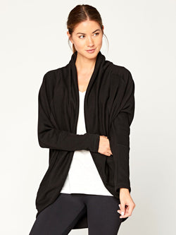 Sienna Cardi Womens Outerwear Cardigans Threads 4 Thought XS Black