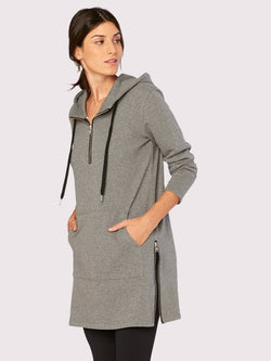 Spin Hoodie Womens Outerwear Sweatshirt Threads 4 Thought XS Heather Grey