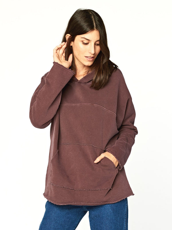 Freya Hoodie Womens Outerwear Hoodie Threads 4 Thought XS Ultra Maroon