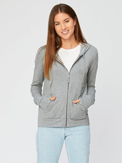Kendra Feather Fleece Solid Womens Outerwear Sweatshirt Threads 4 Thought