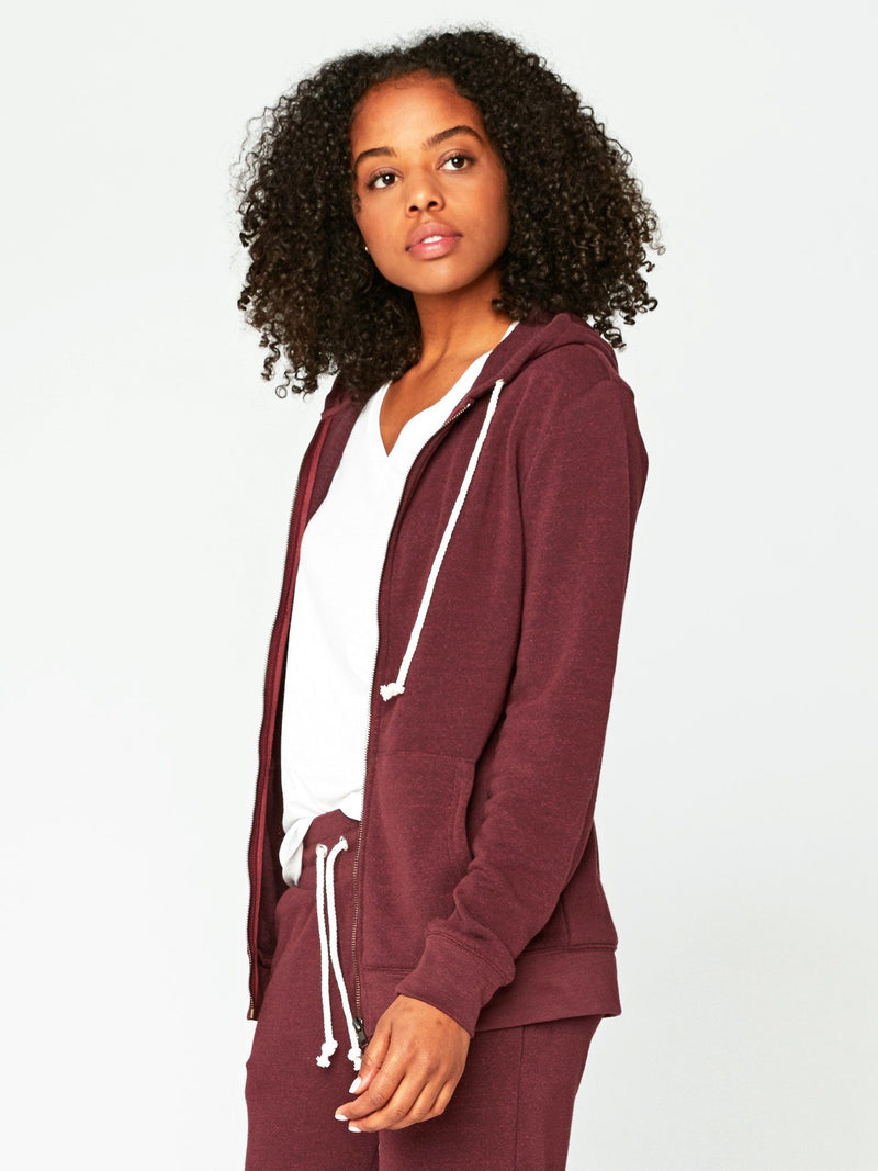Triblend Zip Hoodie Womens Outerwear Sweatshirt Threads 4 Thought