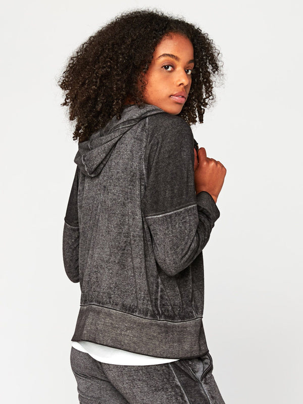 Geraldine Burnout Zip Hoodie Womens Outerwear Jacket Threads 4 Thought
