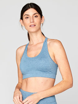 Malana Sports Bra Womens Tops SportsBra Threads 4 Thought XS Heather Edgewater