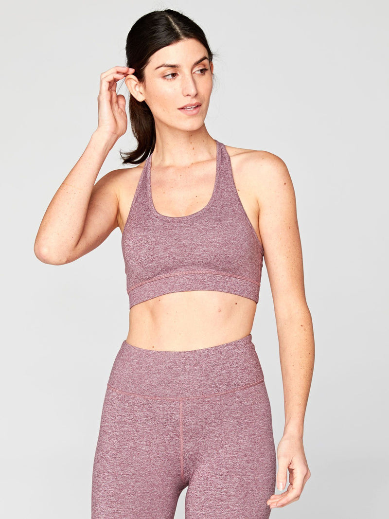 Malana Sports Bra Womens Tops SportsBra Threads 4 Thought XS Heather Fig