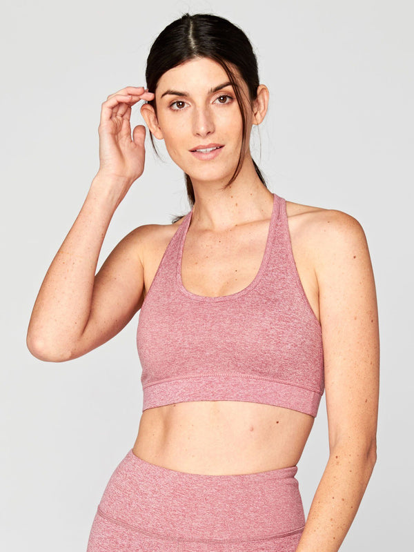 Malana Sports Bra Womens Tops SportsBra Threads 4 Thought XS Heather Sonata