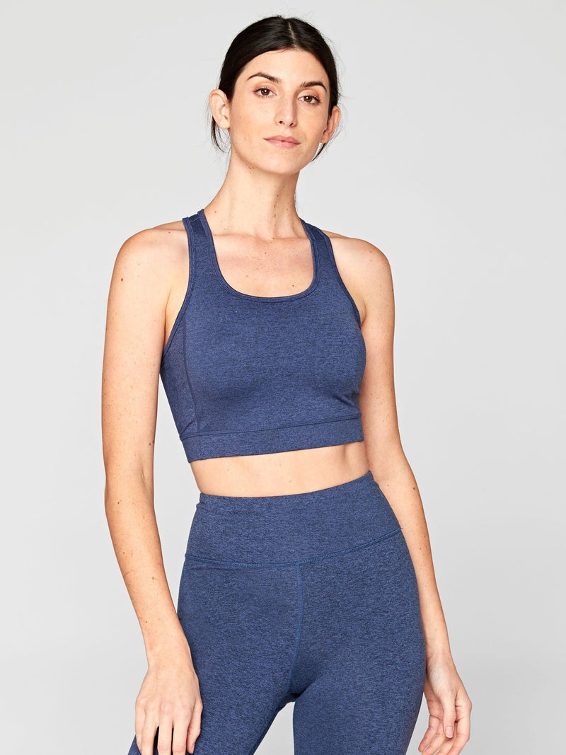 Lunette Sports Bra Womens Tops SportsBra Threads 4 Thought XS Heather Chambray