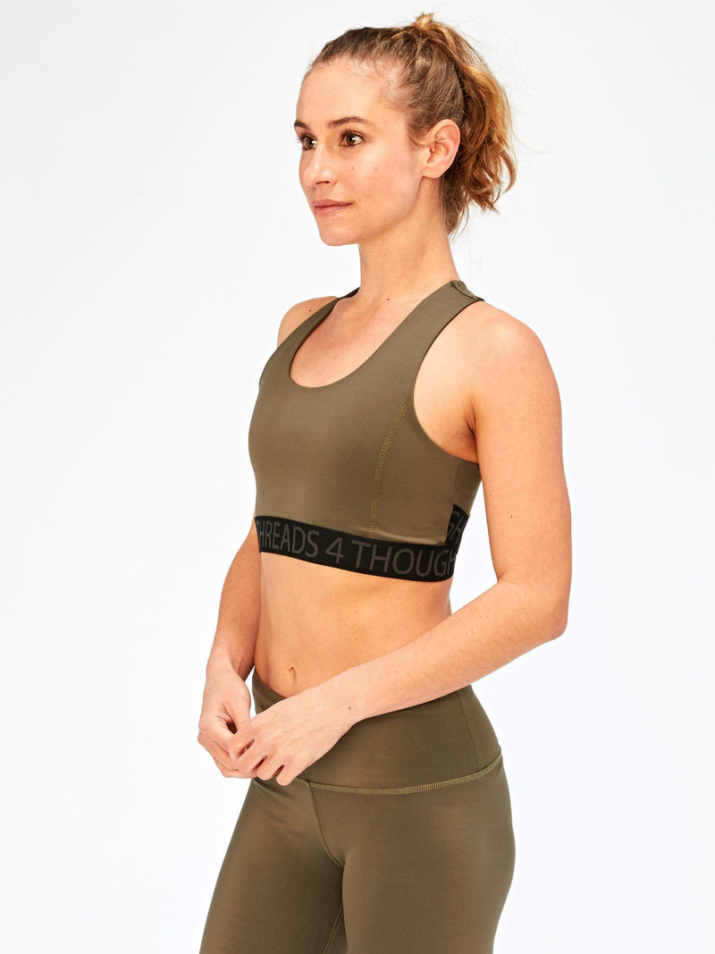 Tranquil Wrap Sports Bra Womens Tops SportsBra Threads 4 Thought