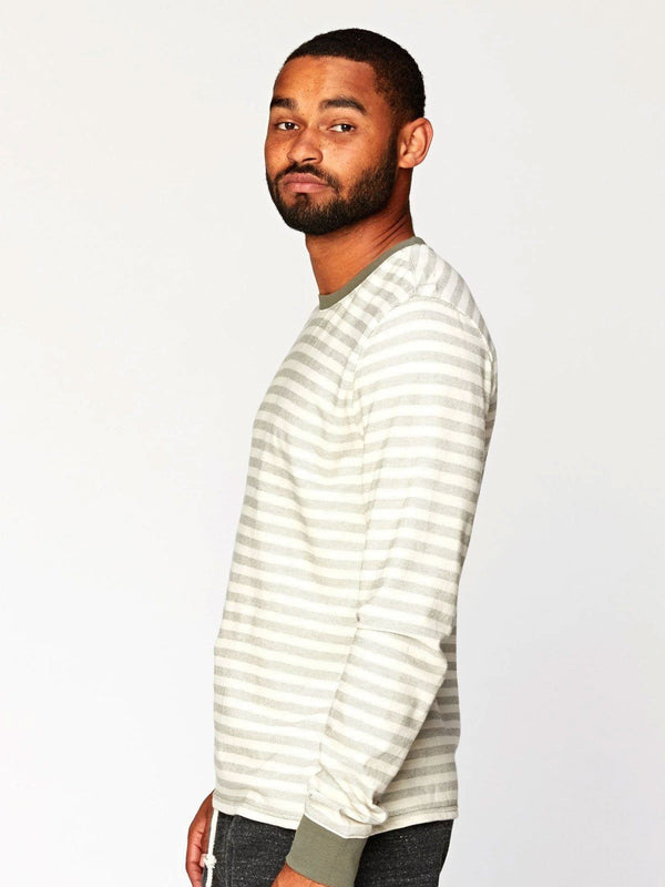 Amos Stripe Long Sleeve Mens Tops Threads 4 Thought