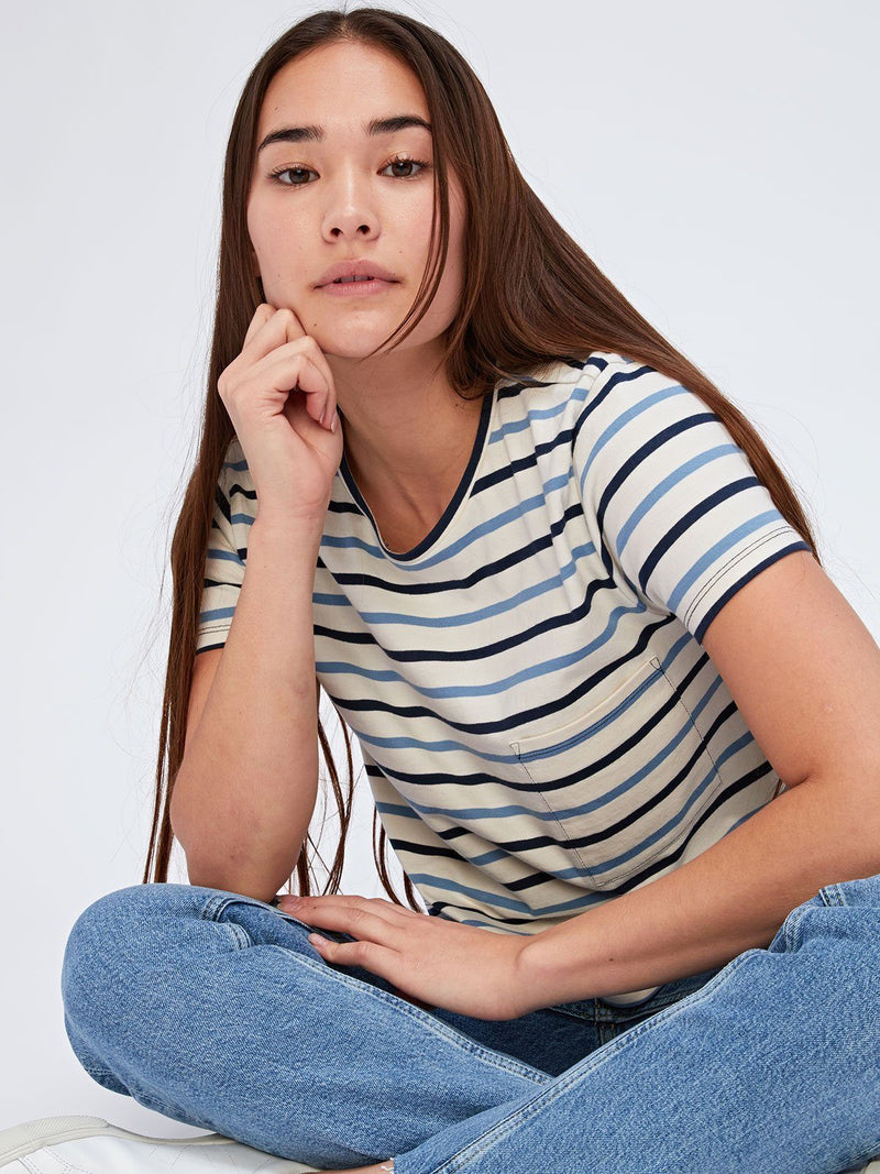 Maggie Stripe Tee Womens Tops Threads 4 Thought