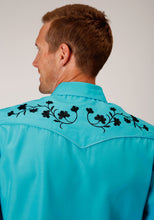 Karman Special Styles Polyc Mens Long Sleeve 00148b Solid Broadcloth - Turquoise