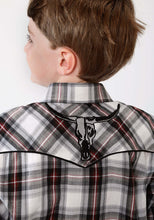 Karman Special Styles Polyc Boys Long Sleeve Shirt 1016 Black Grey Red Plaid