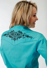 Karman Special Styles Polyc Womens Long Sleeve Shirt 1221 Solid Broadcloth - Turquoise